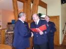 Ehrung für 40 Jahre Feuerwehr Albert Behrens